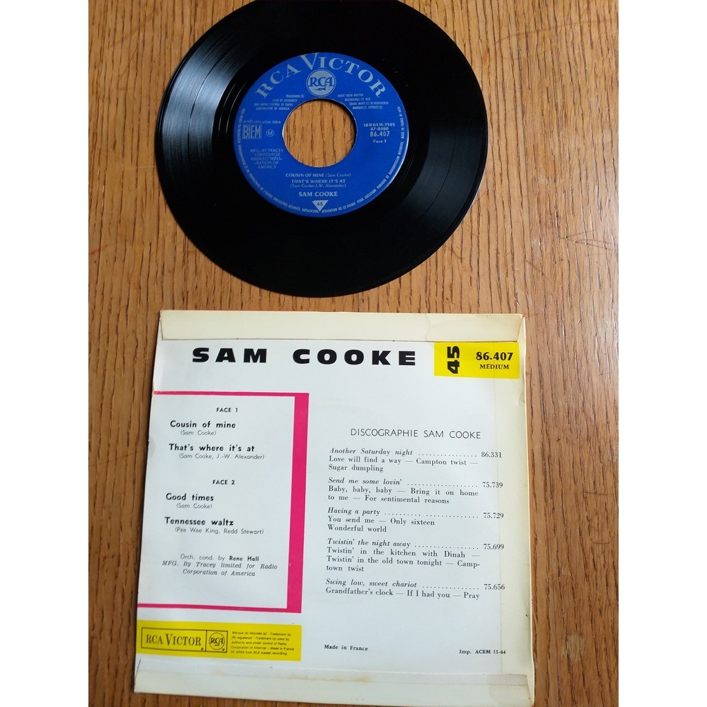 sam cooke COUSIN OF MINE