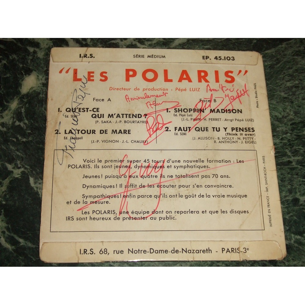 Les Polaris Qu'Est-Ce Qui M'Attend ? +3 (Dédicacé !!)