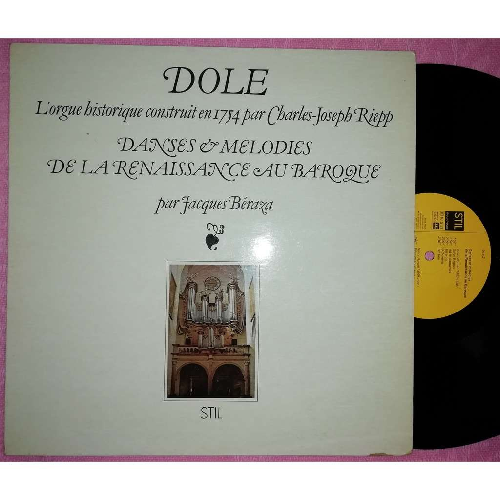 jacques beraza orgue historique de Dôle danses et mélodies de la renaissance au baroque