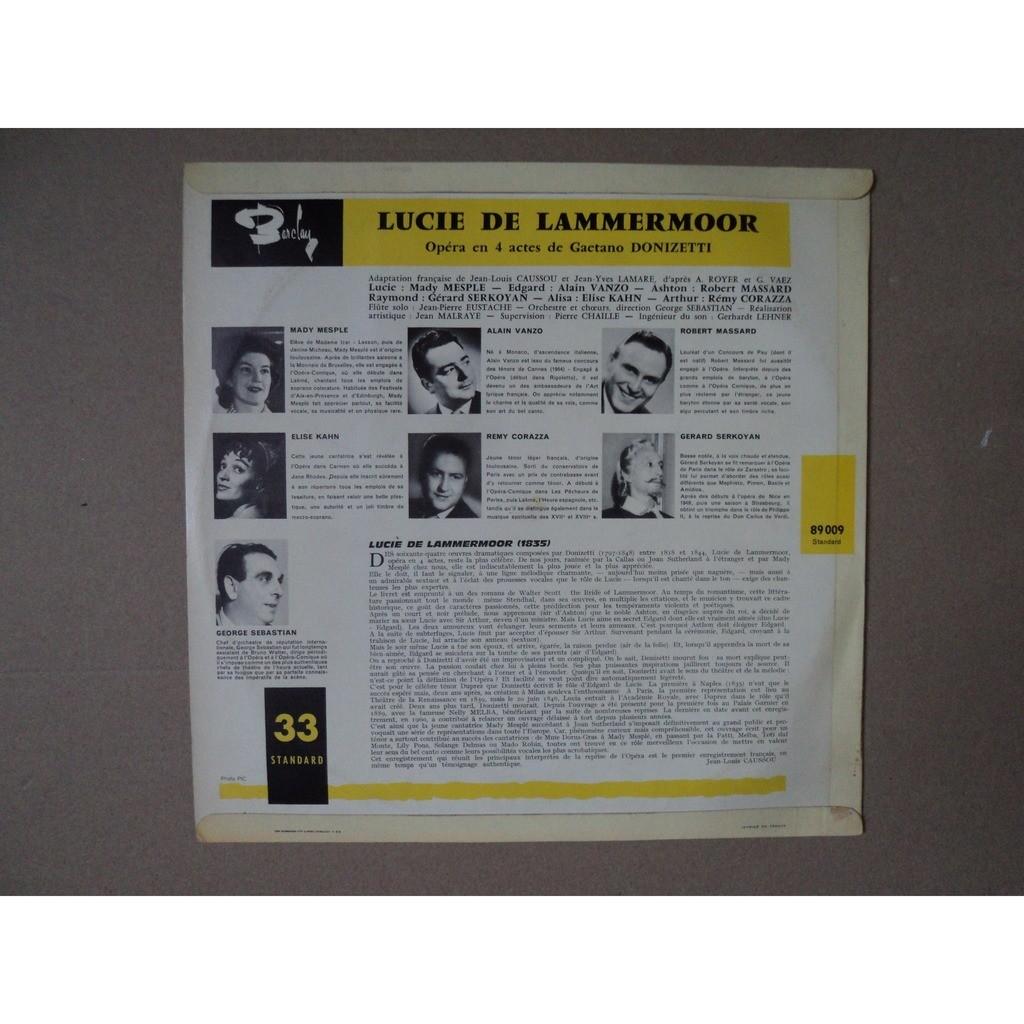 Mesple/ vanzo /massard/serkoyan /corazza Donizetti: Lucie De Lammermoor