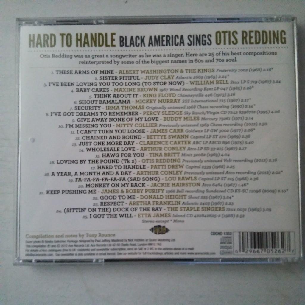 VARIOUS Hard To Handle (Black America Sings Otis Redding)