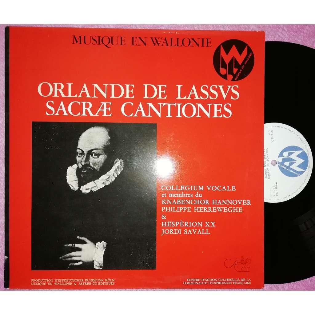 philippe herreweghe jordi saval musique en wallonie orlandi lassi chants sacrés