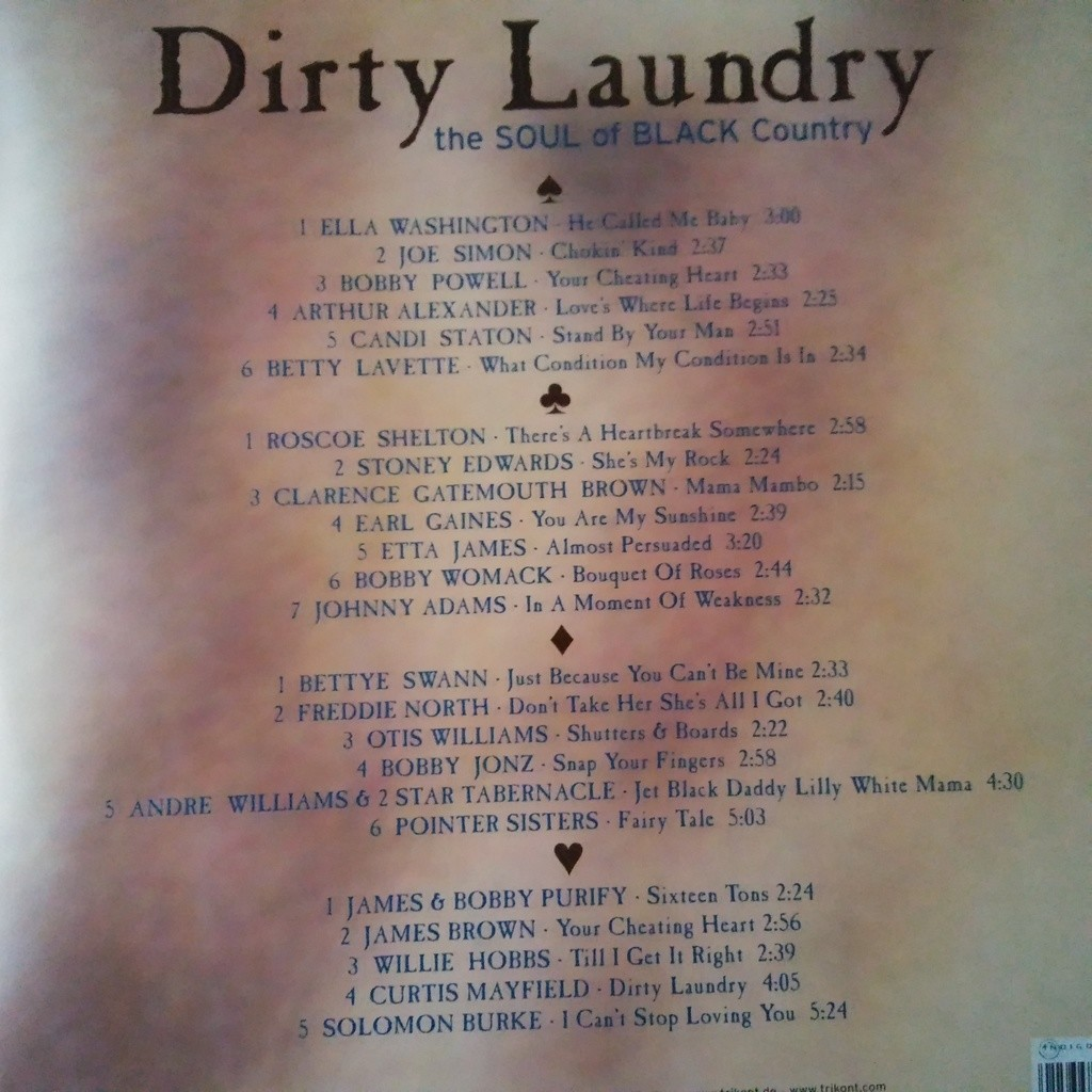 VARIOUS Dirty Laundry - The Soul Of Black Country
