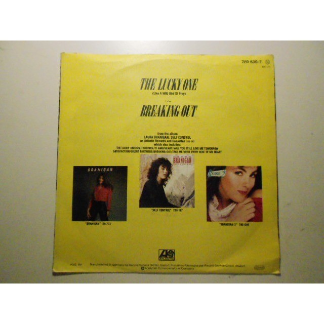 laura branigan the lucky one / breaking out