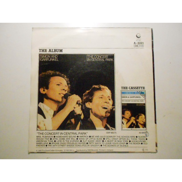 simon and garfunkel mrs robinson / bridge over troubled water