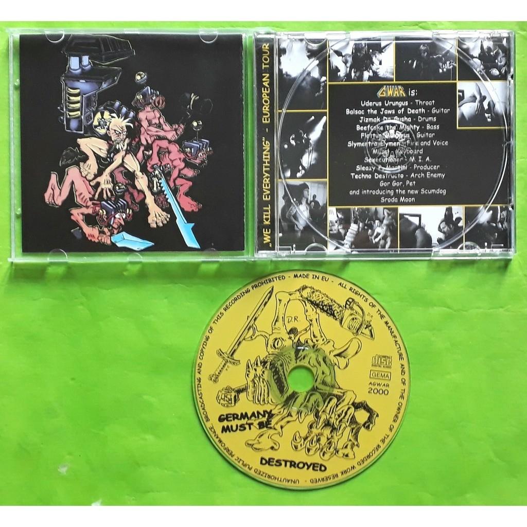 GWAR GERMANY MUST BE DESTROYED-(Limited édition)(Album CD)(Original)(Germany).