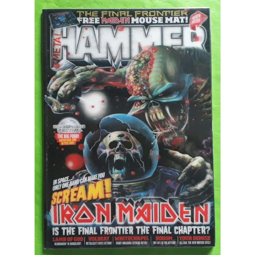 IRON MAIDEN METAL HAMMER MAGAZINE-(Version anglaise)(Original)(2010)(UK)