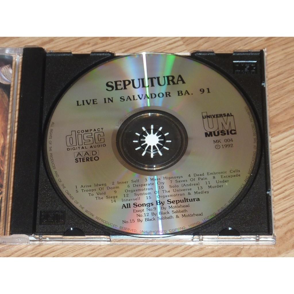 SEPULTURA LIVE SALVADOR CD