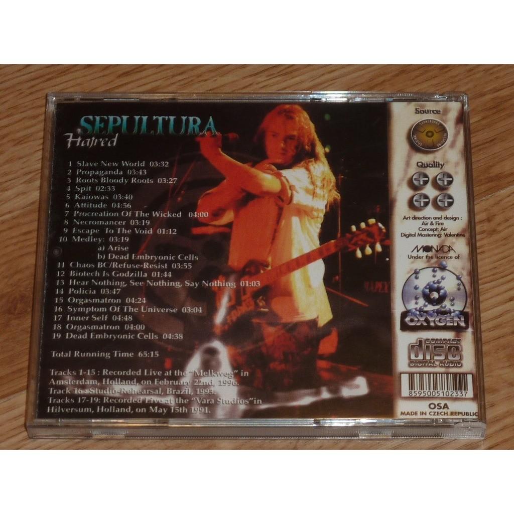 SEPULTURA HATRED CD