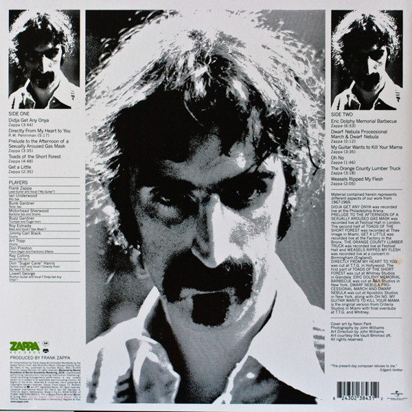 frank zappa & the mothers of invention Weasels Ripped My Flesh