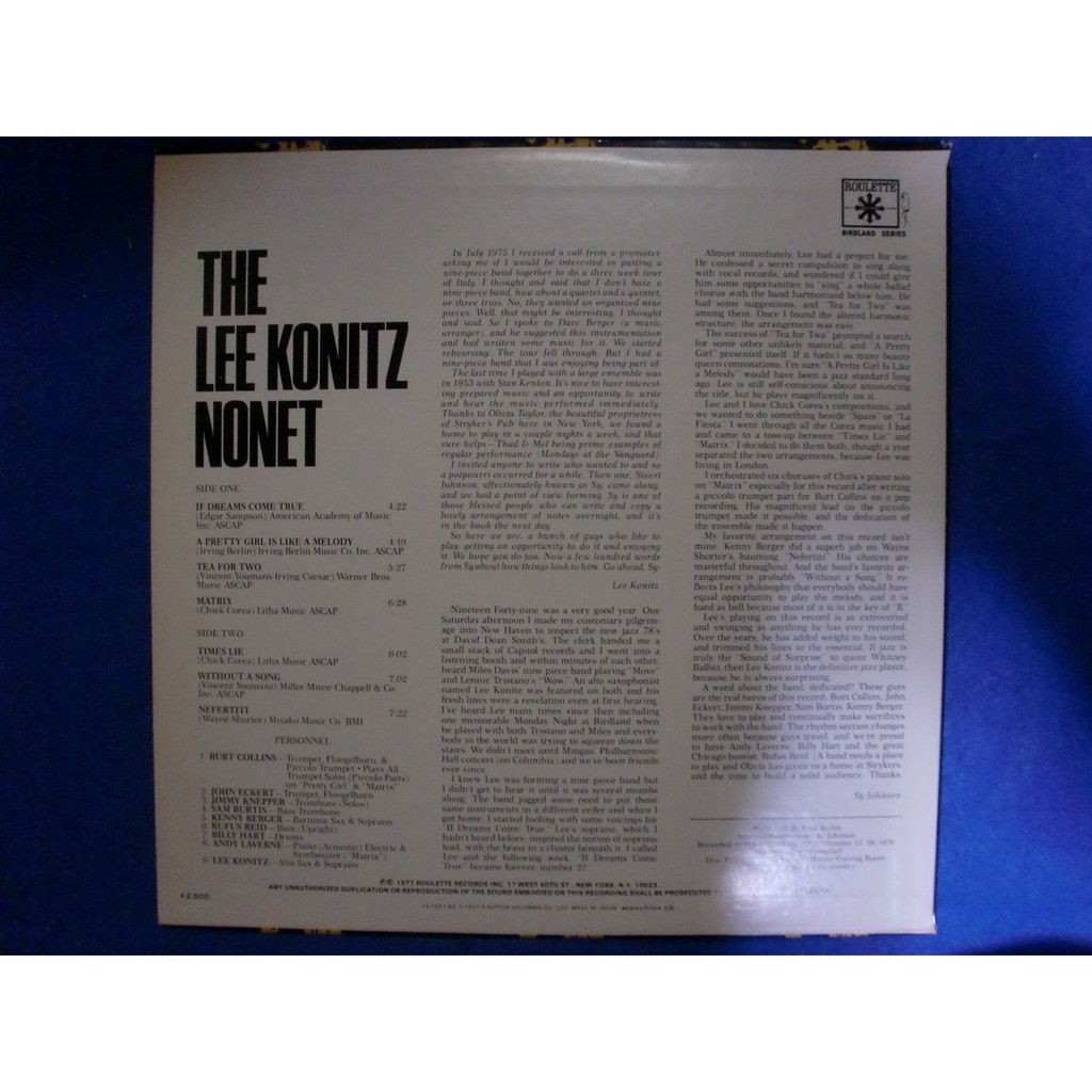 lee konitz lee konitz nonet