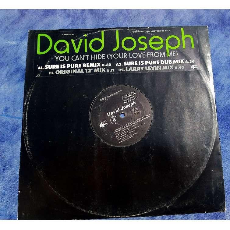 David Joseph You Can't Hide (sure is pure remix) / ( sure is pure dub mix) / original mix / larry levan mix
