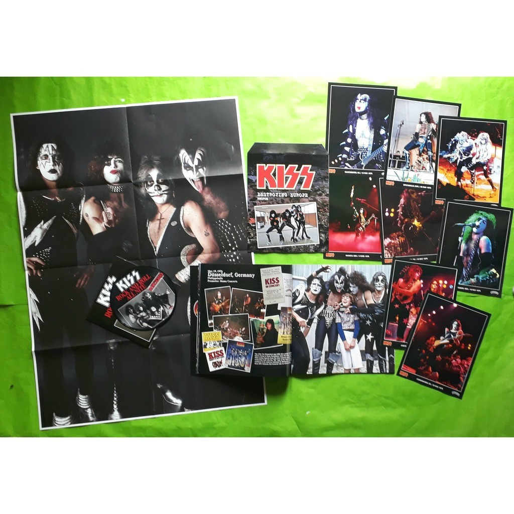KISS DESTROYING EUROPE-(Limited édition)(Box)(4LP)(Pic-disc)+(Poster/photos/7inch)(2018)(US).