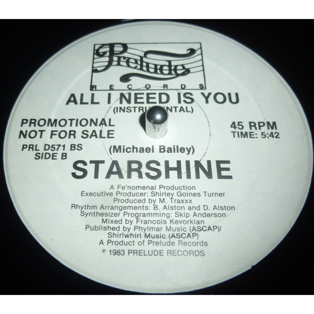starshine all i need is you