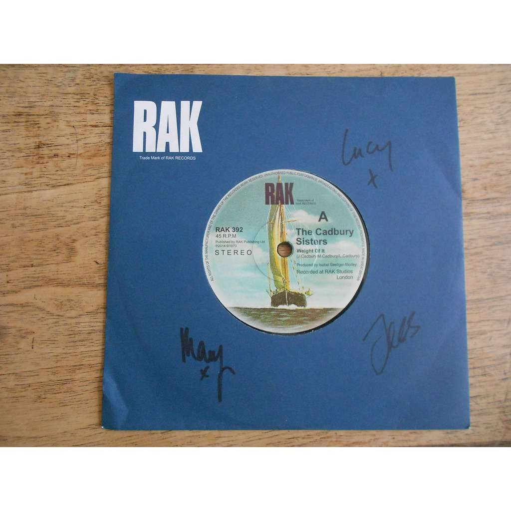 the cadbury sisters weight of it - make me smile (autographed by full band)