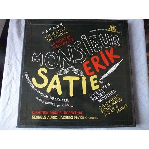 Jacques Fevrier & Georges Auric,- Denise Monteil Monsieur Erik Satie : parade en habit de cheval, la mort de socrate.... - ( 2 lp set box near mint )