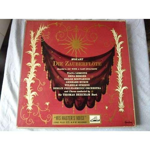 Sir Thomas Beecham - philharmonique de berlin Mozart : Die Zauberflote - ( lemnitz, rosvaenge, berger, hüsch,strienz ) - ( 3 lp set box ed1 )