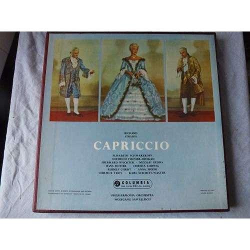 THE PHILHARMONIA ORCHESTRA / W.SAWALLISCH R. STRAUSS : CAPRICCIO - (schwarzkopf, fischer-dieskau, wächter, gedda) - ( 3 lp set box near mint )