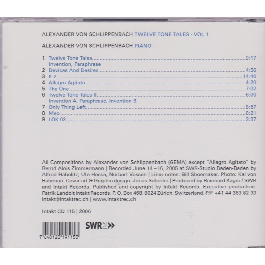 alexander von schlippenbach twelve tone tales vol.1