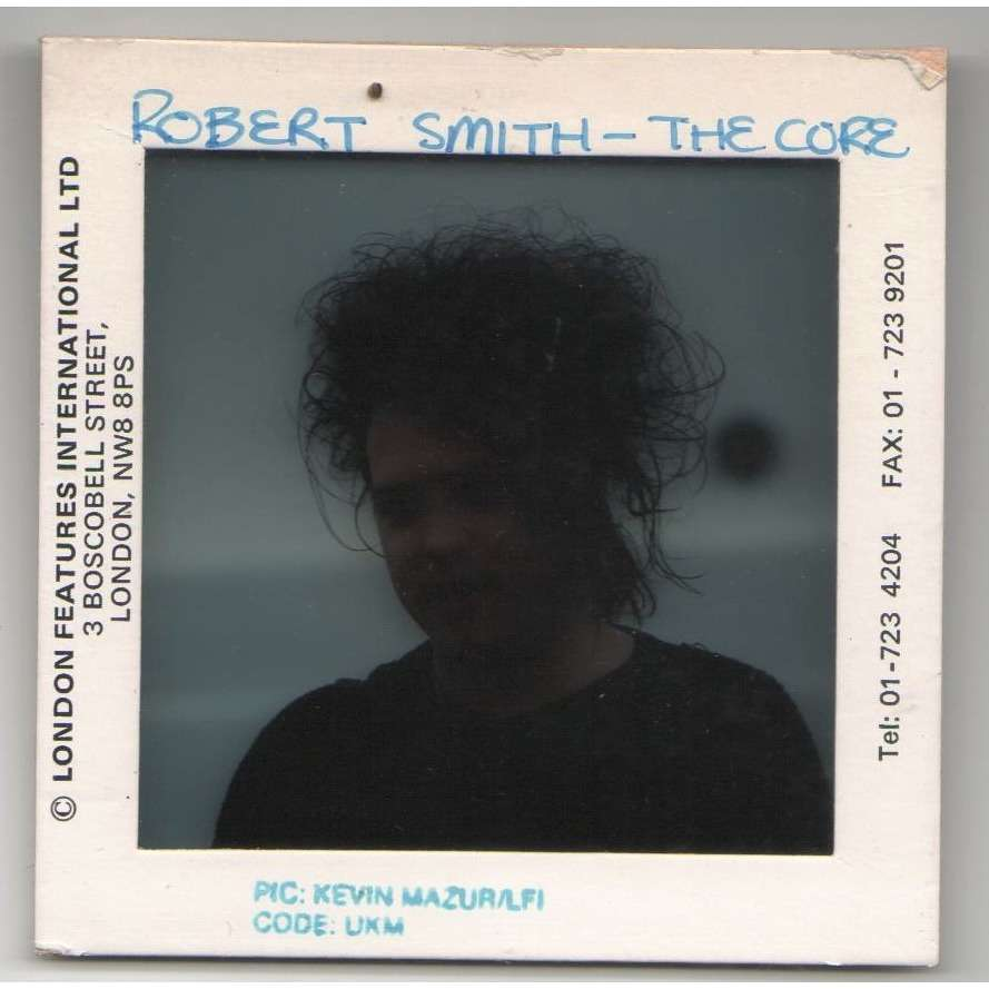 The Cure Robert Smith (UK late 80s original 'London Features' promo Slide by Kevin Mazur !)