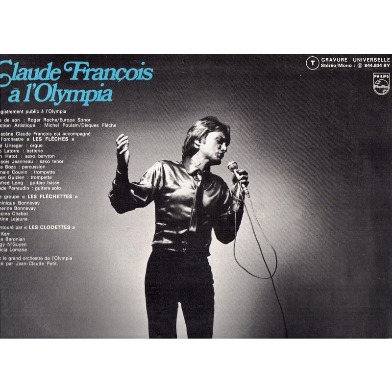 CLAUDE FRANCOIS CLAUDE FRANCOIS A L'OLYMPIA .. .. PREMIERE EDITION 1969