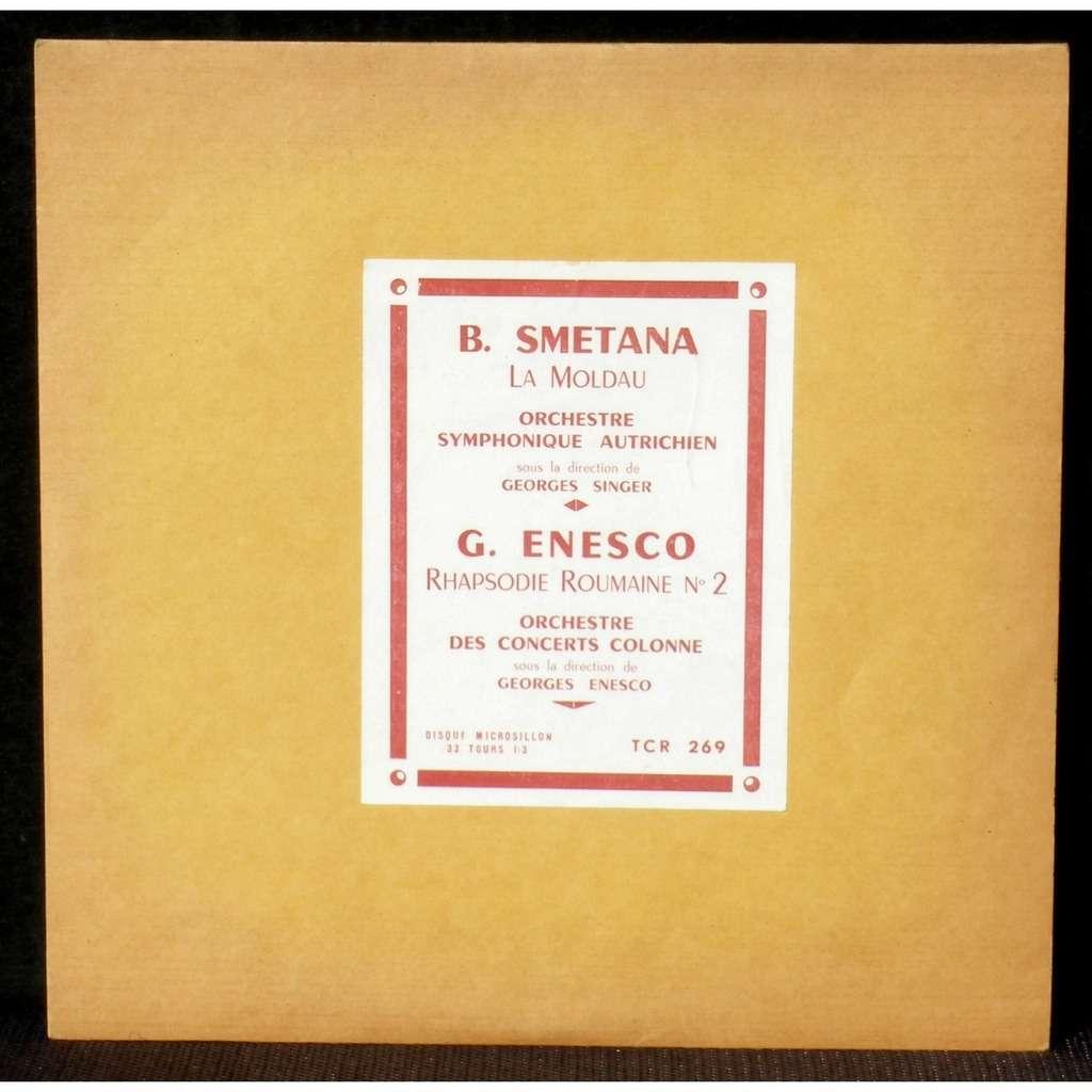 Smetana Singer Enesco Rhapsodie 2 Enesco Colonne Smetana Singer Enesco Rhapsodie 2 Georges Enesco Colonne 25 Cm 10 Tcr 269 Lp Cv Ex