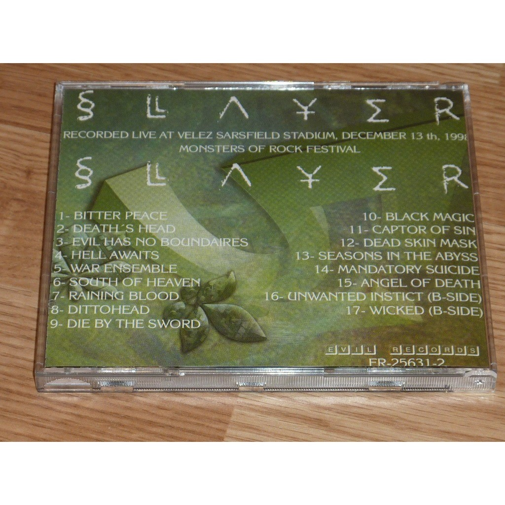 SLAYER BUENOS AIRES 1998 CD