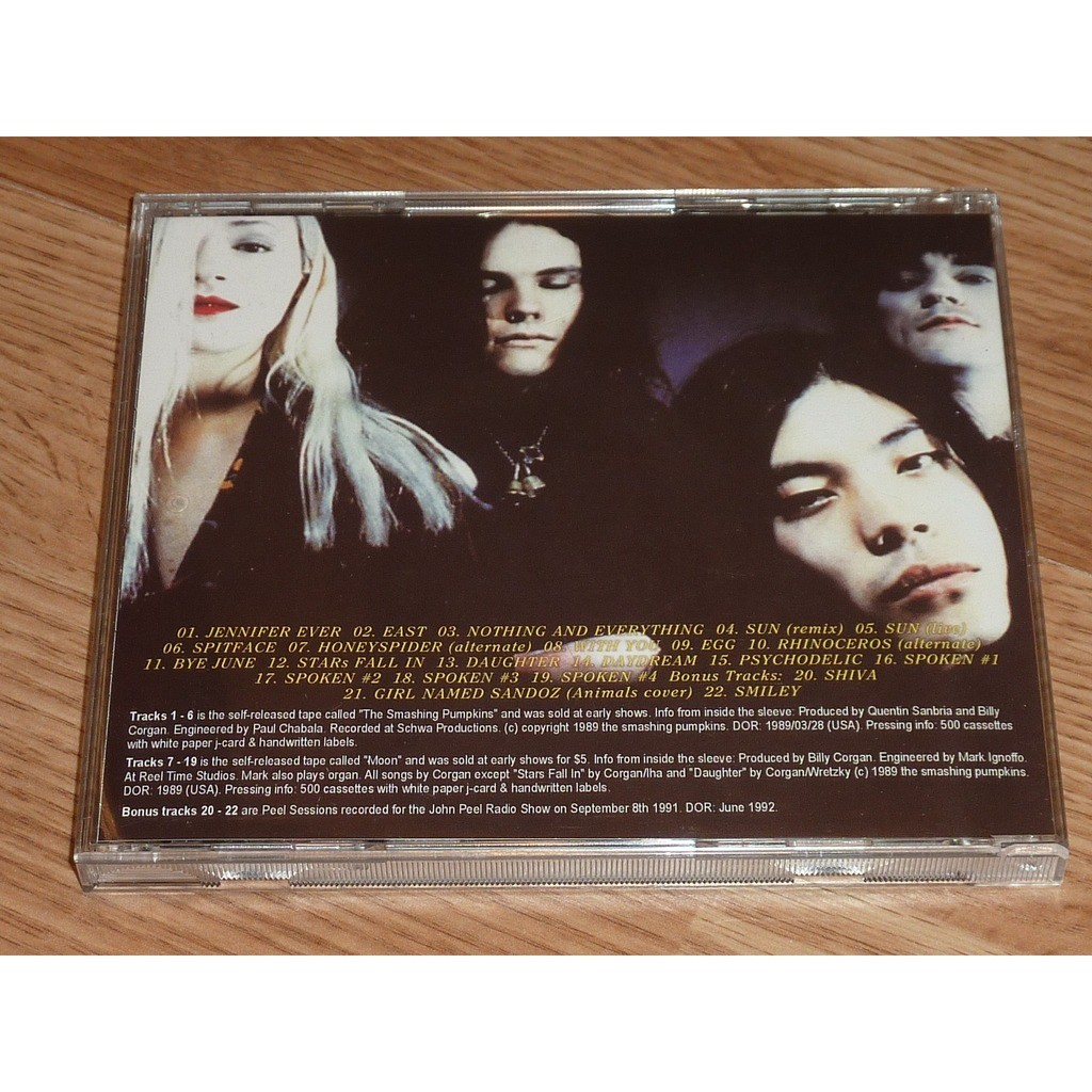 SMASHING PUMPKINS THE SP & MOON DEMO TAPES CD