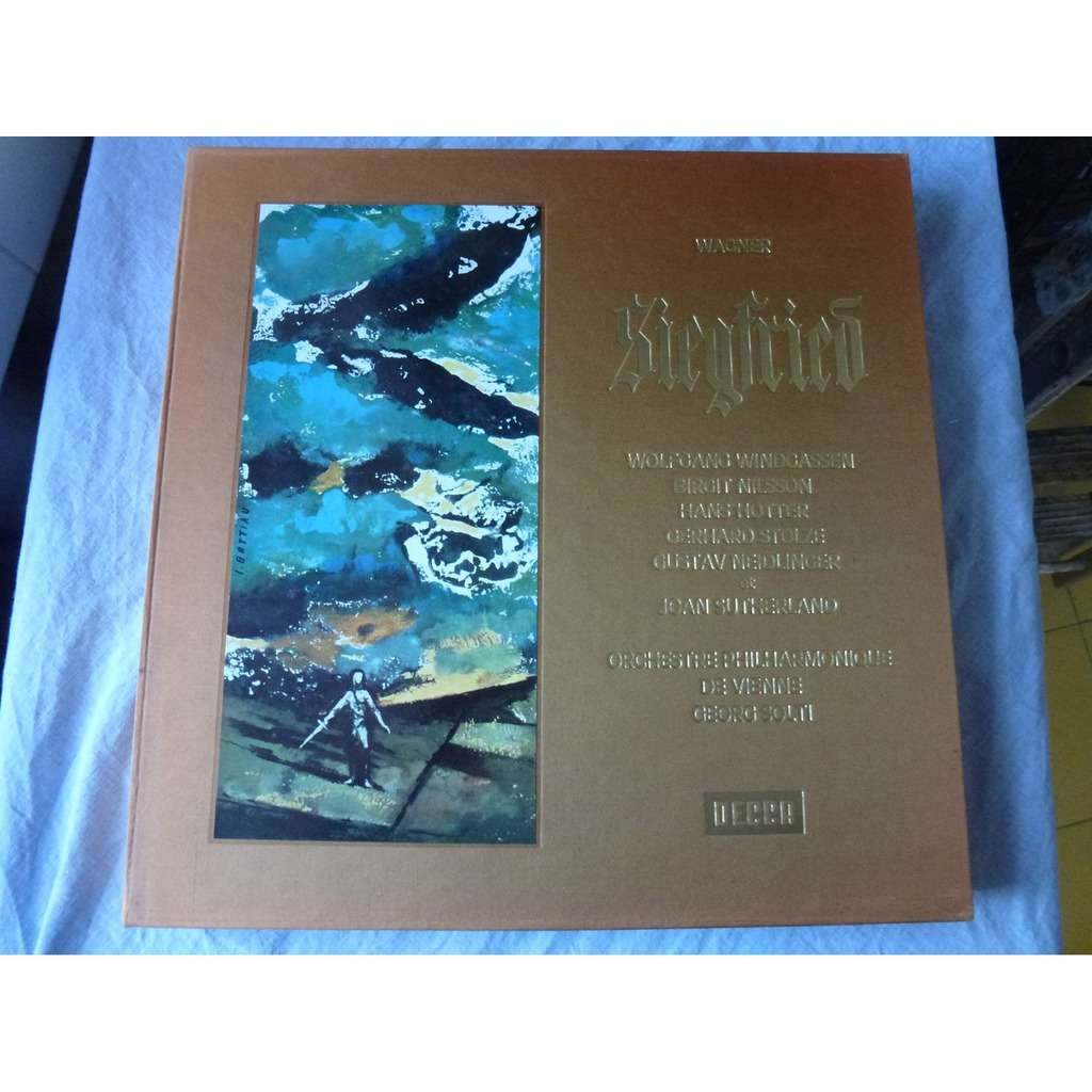 WINDGASSEN - NILSSON - HOTTER - STOLZE -SUTHERLAND Richard WAGNER : Siegfried - philharmonique de vienne dir georg solti - ( 5 lp set box mint )
