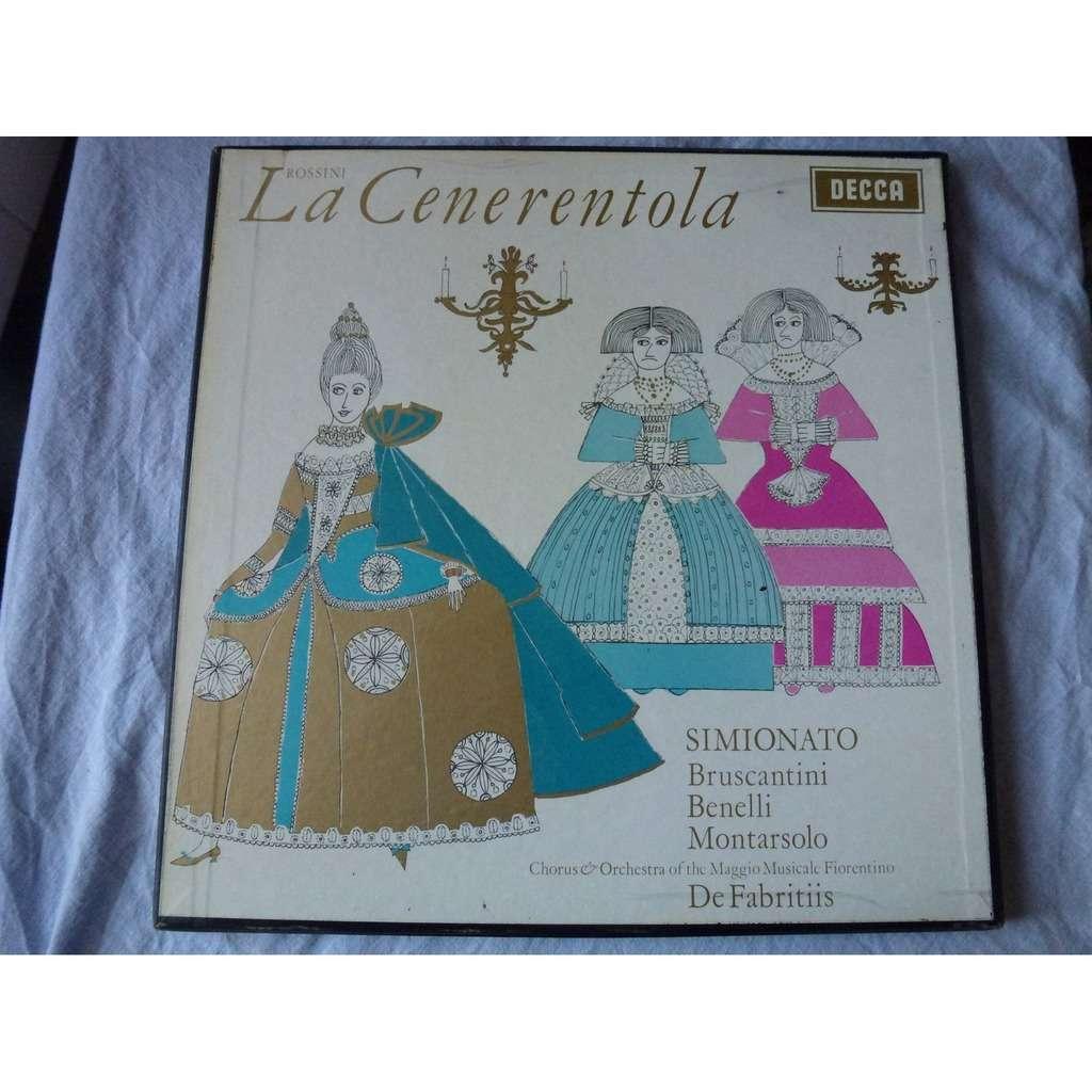 Rossini Gioachino / de Fabritiis LA CENERENTOLA - (simionato, bruscantini, benelli, montarsolo) - ( 3 lp set box near mint )