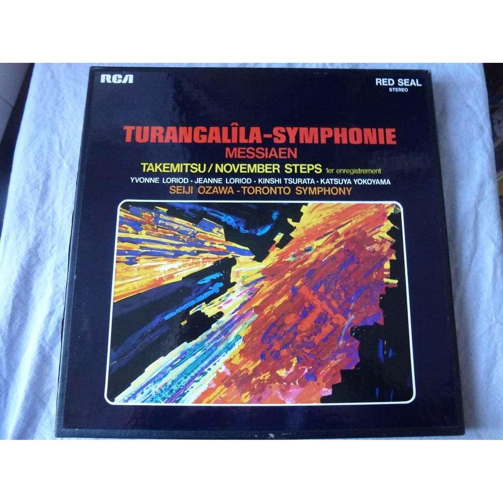 seiji ozawa dir toronto symphony Messiaen : turangalila symphonie - takemitsu / november steps - ( 2 lp set box stéréo near mint )