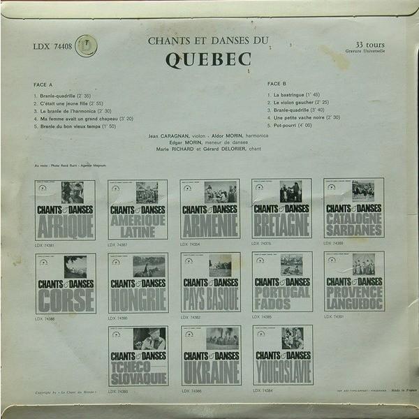 CHANTS & DANSES du QUEBEC Chants & danses du Québec