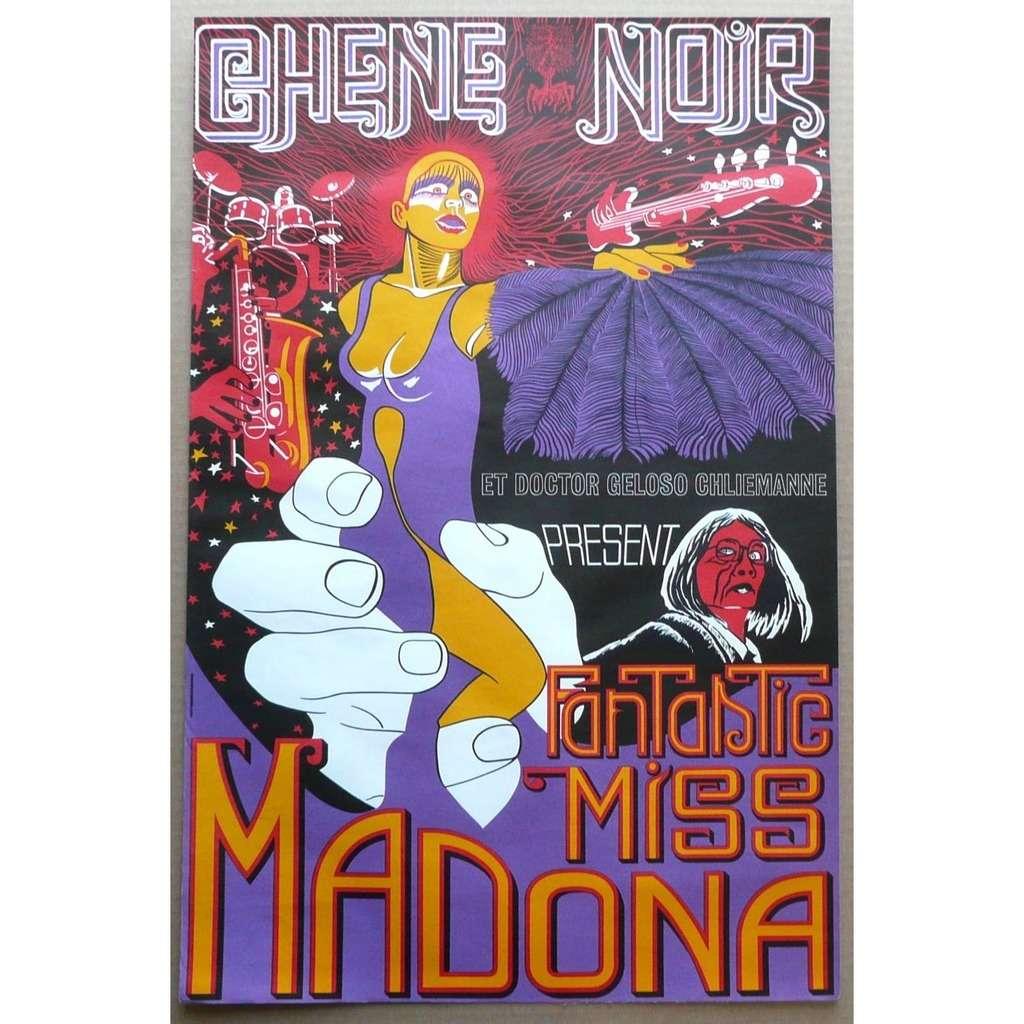 Chêne Noir Et Doctor Geloso Chliemanne Miss madona (Ultra Rare Original Affiche / Poster)