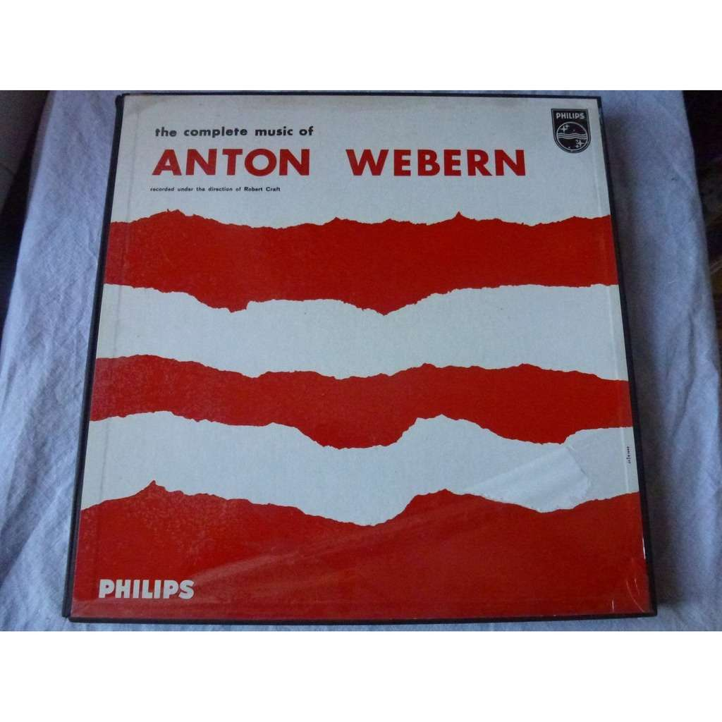 Robert Craft THE COMPLETE MUSIC OF ANTON WEBERN - ( 4 lp set box mint condition )