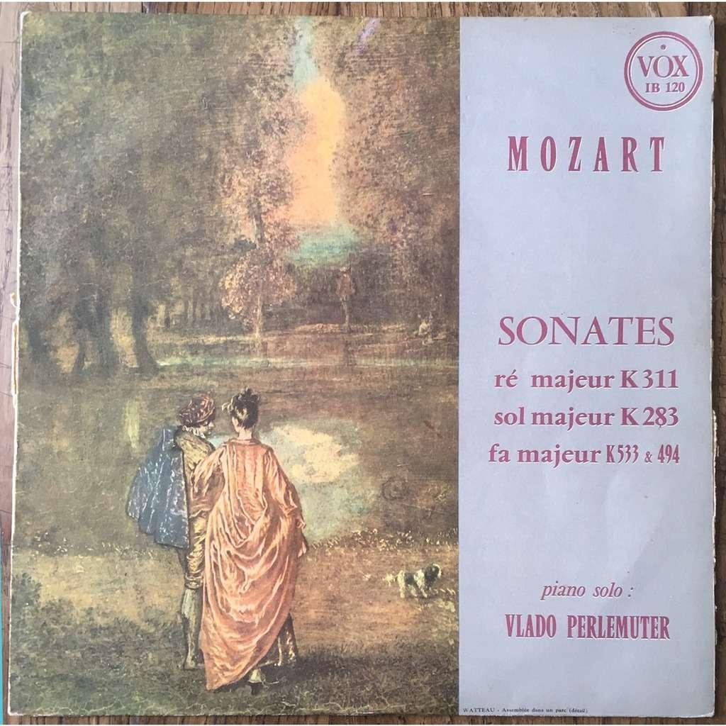Vlado Perlemuter Sonates ré majeur K 311,sol majeur K 283,fa majeur K 533&494