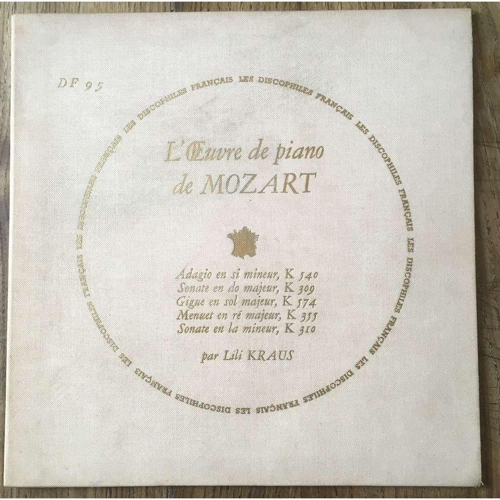 Lili Kraus MOZART adagio K 540 - sonatas K 309 & K 310- gigue K 574 - menuet K 355