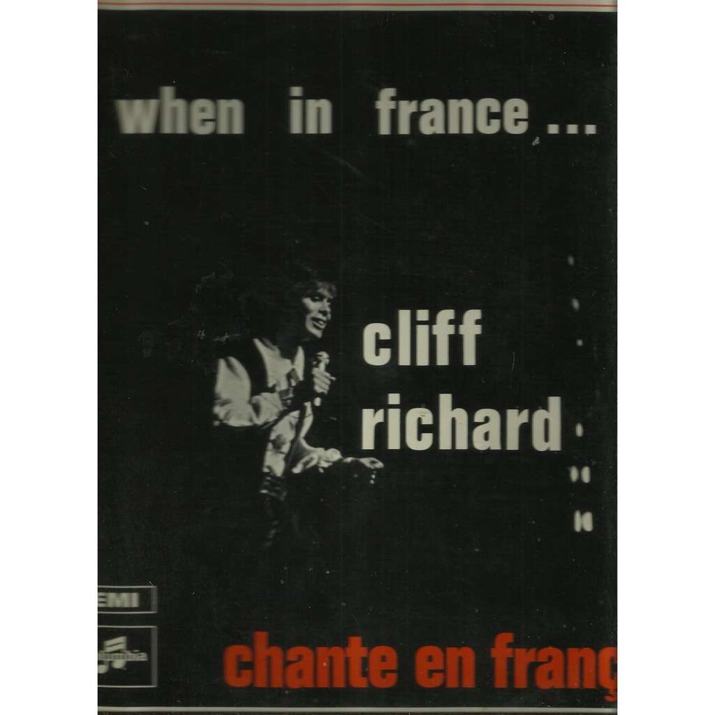 cliff richard when in france