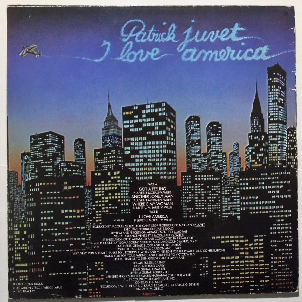 Patrick Juvet Got a feeling - I love America