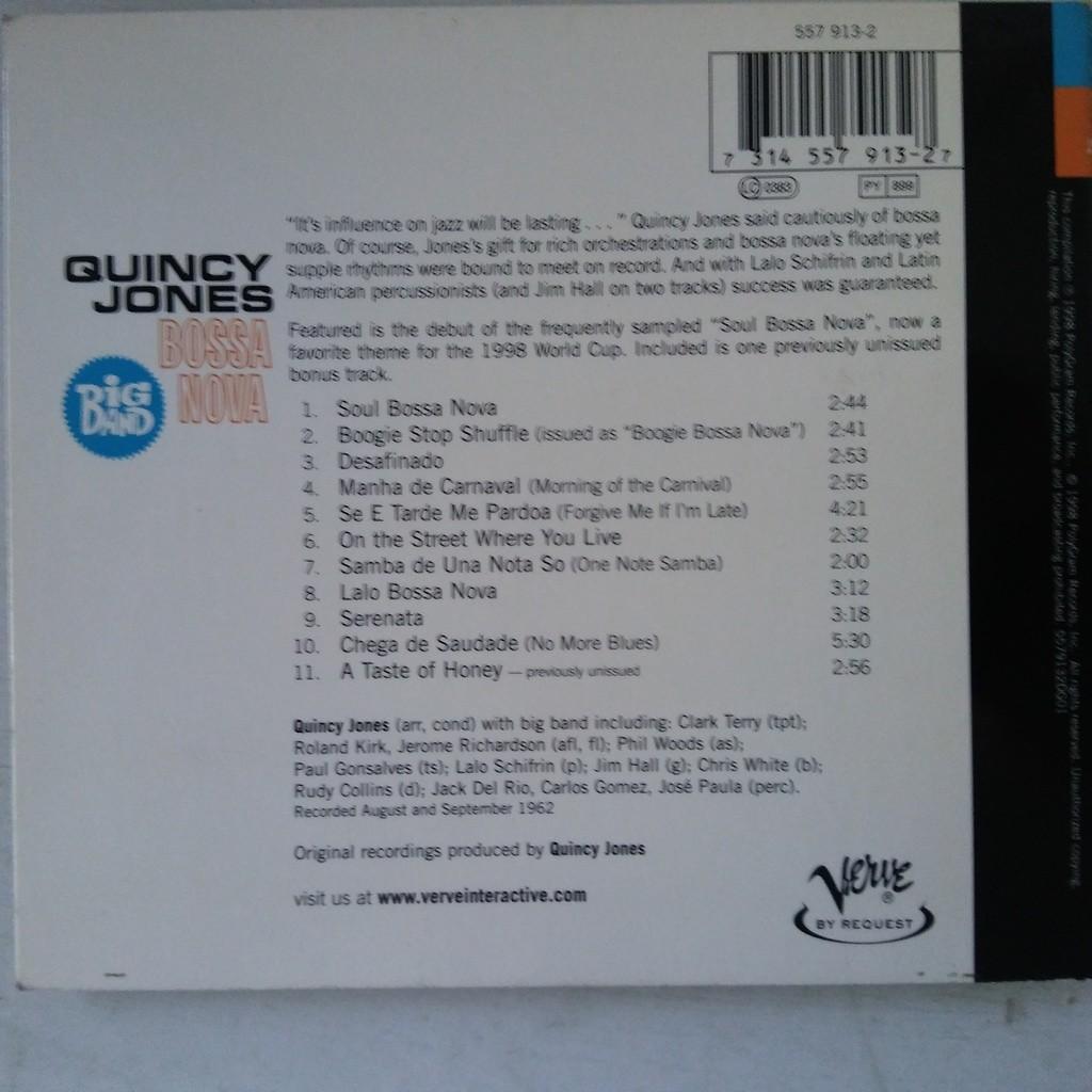 Quincy Jones And His Orchestra Big Band Bossa Nova