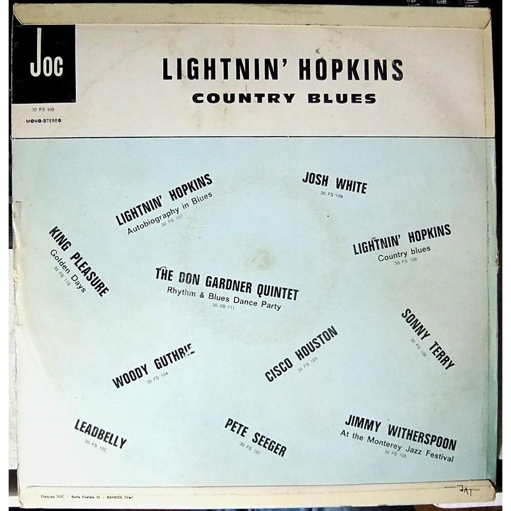 LIGHTNIN' HOPKINS country blues