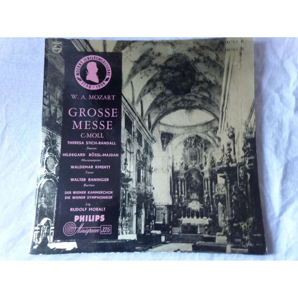 RUDOLF MORALT & THERESA STICH RANDALL MOZART : Grosse messe - ( double lp 10 gatefold cover near mint condition )