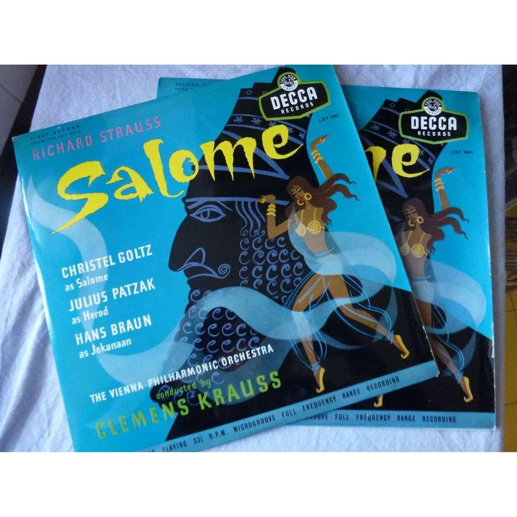 clemens krauss strauss : salomé (goltz, patzak, braun) - ( 2 lp 12 )