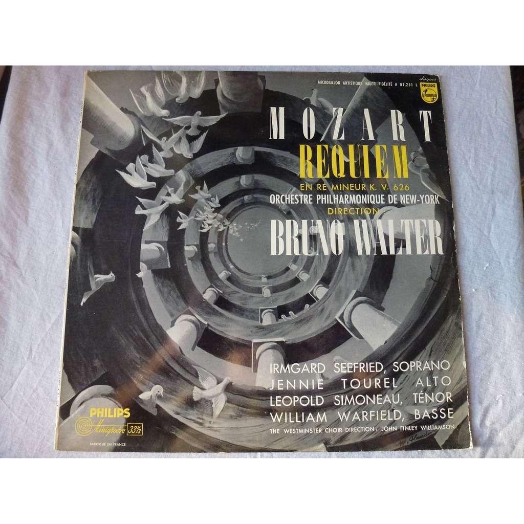 BRUNO WALTER - Irmgard Seefried - Jennie Tourel Mozart : Requiem Mass in D Minor, K. 626