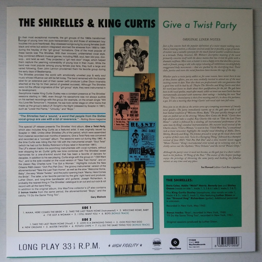 The Shirelles & King Curtis Give A Twist Party