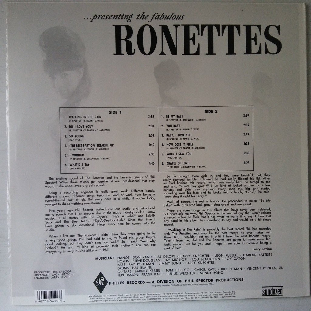 The Ronettes ...Presenting The Fabulous Ronettes Featuring Veronica