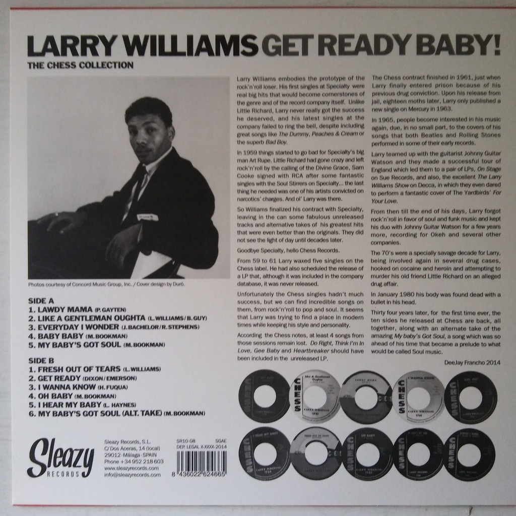 Larry Williams Get Ready Baby! - The Chess Collection