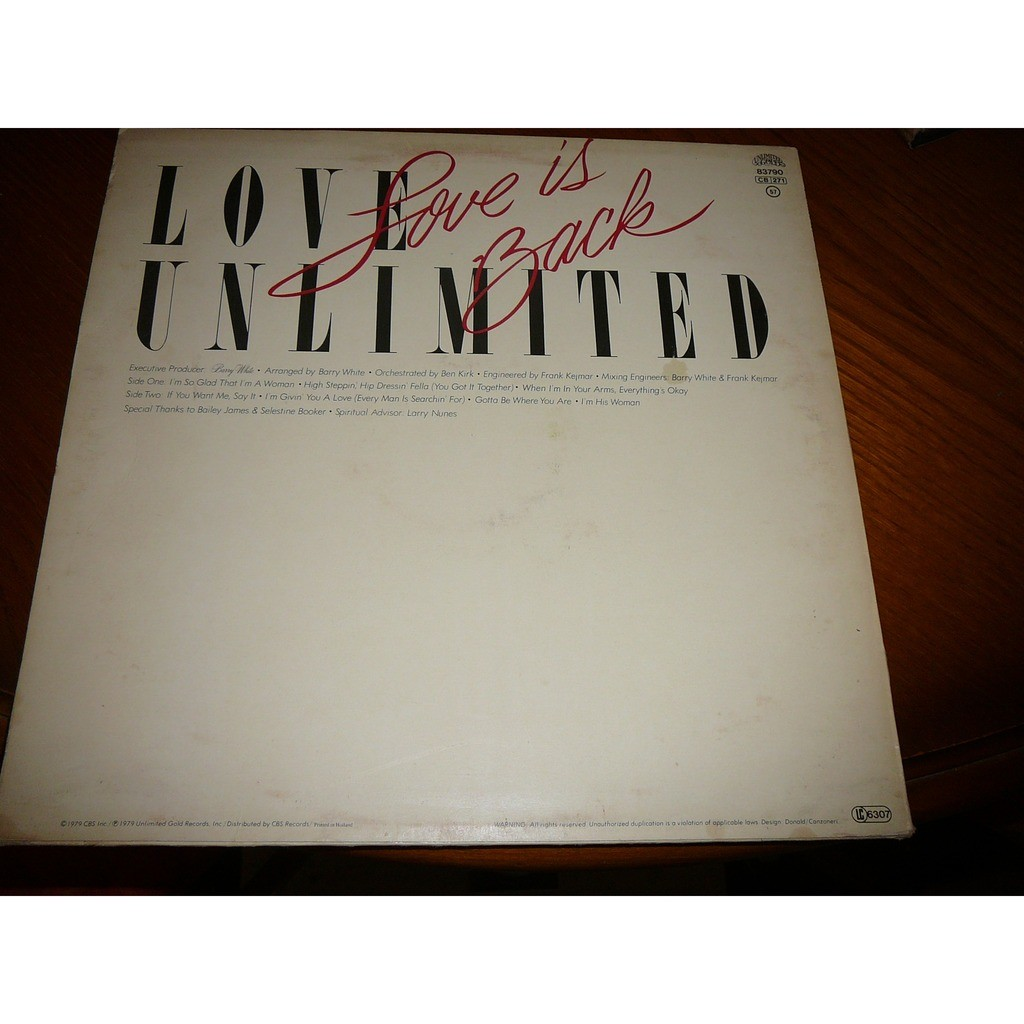 LOVE UNLIMITED love is back