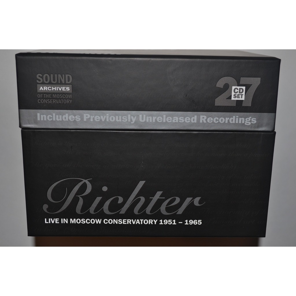 SVYATOSLAV RICHTER Live in Moscow Conservatory 1951-1965