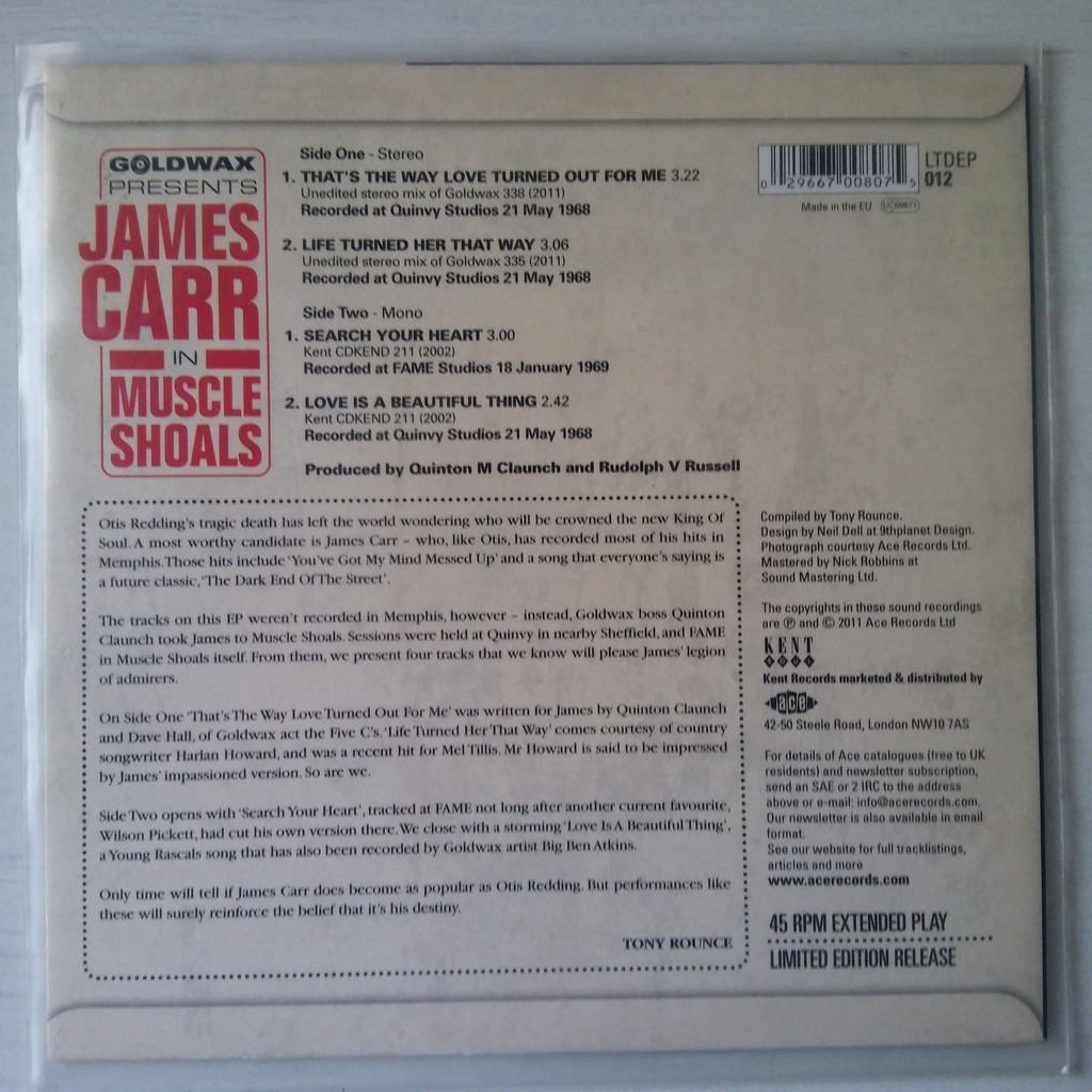 James Carr In Muscle Shoals