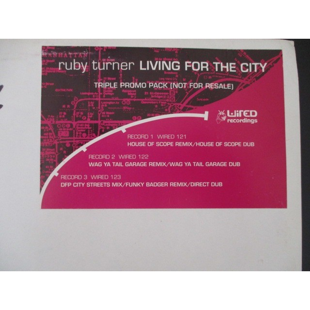 ruby turner living for the city (triple promo pack)